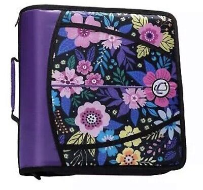 Case It The Mighty Zip Tab 3-ring Zipper Floral Binder