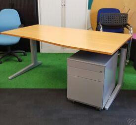 Beech wave desk cheap
