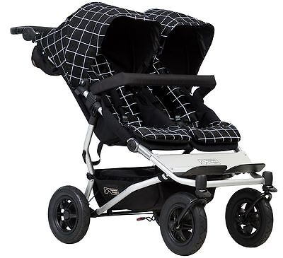 Mountain Buggy Duet Compact All Terrain Twin Baby Double Stroller Grid NEW 2017 - Mountain Buggy Twin Stroller