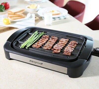 Flat Top Grill On Table Electronic Power Smokeless Indoor Plug In Electric Best