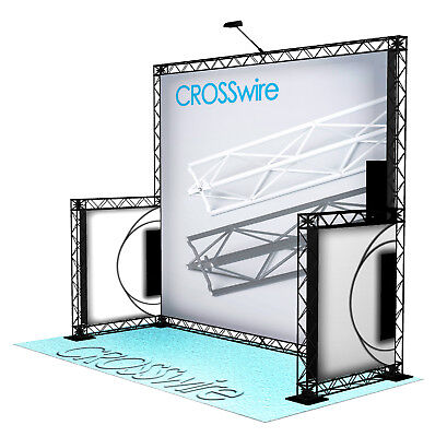 Crosswire Exhibits 10x10 Booth Trade Show Display Pop-up Portable X-10 X-15 X-20