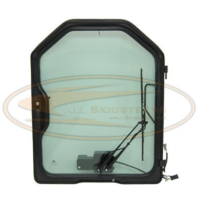 For Bobcat Door With Wiper Skid Steer Loader Glass Front Cab Enclosure