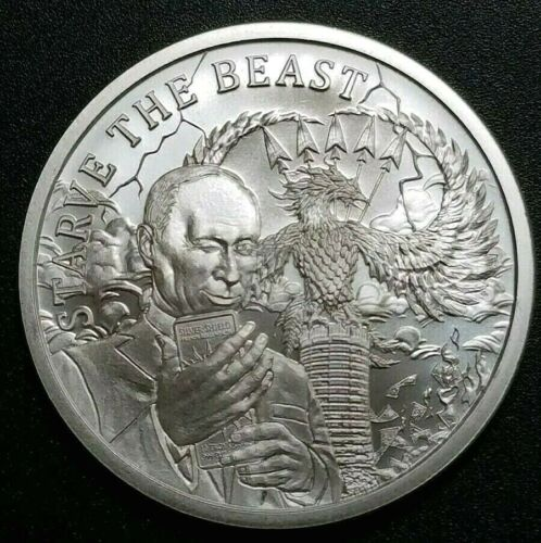 Putin Russia Death of The Dollar 1 oz 999 Fine Silver Round 2,536 Minted Coin
