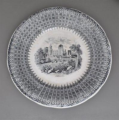Villeroy & Boch Teller um 1860 -  Ansicht von Andernach