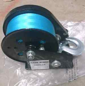1200lb/600kg 3:1 Boat hand winch with 7.5m x 50mm strap Wattle Grove Liverpool Area Preview