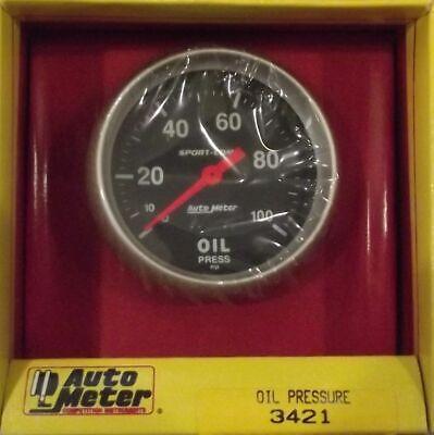 2-5/8 Inch Mechanical Oil Pressure Gauge Kit Autogage by AutoMeter 3421 Autometer Autogage Mechanical Oil