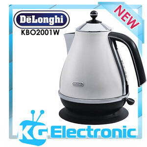 DeLonghi KBO2001W Icona Cordless Kettle - White BRAND NEW