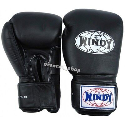 WINDY BOXING GLOVES BLACK BGVH 8,10,12,14,16,18 oz.SPARRING  MUAY THAI MMA K1 ](Windy Boxing Gloves)