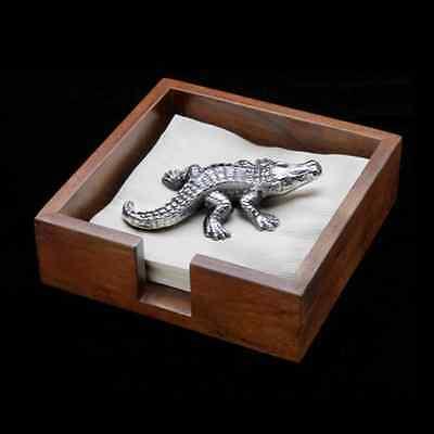 Arthur Court Alligator Gator Napkin Paper Figurine - Weight Only  New in Box !! Weight Box Paper