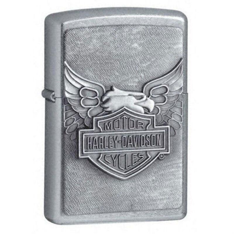 Zippo Harley Davidson Street Chrome Lighter With Emblem, 20230, New In Box