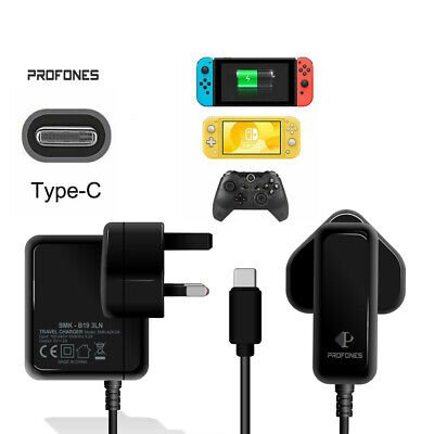 Charger For Nintendo Switch/Lite Pro Adapter USB Type C Power Supply Controller