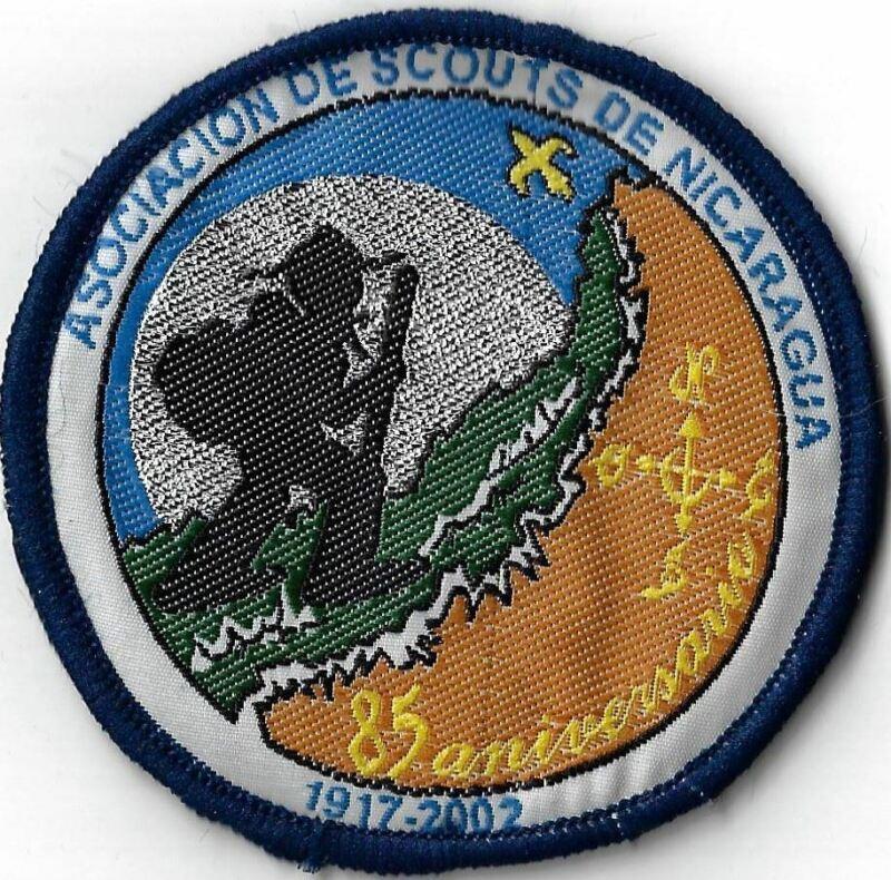 Asociacion De Scouts De Nicaragua 1917-2002 85 Anniversary DBL Bdr. [MX-11605]