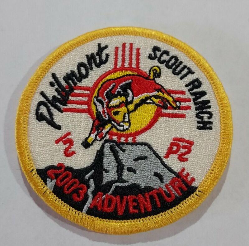 2003 BSA Philmont Scout Ranch High Adventure Patch