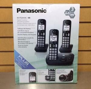 Telephones sans Fil 3 Combinés + 3 Bases PANASONIC ( B066979 )