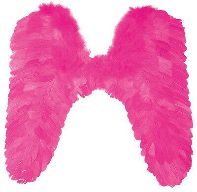 Rosa Flügel Kostüm (Engelsflügel pink rosa groß XXL Flügel 55cm Engel Kostüm Fasching JGA 125795513)