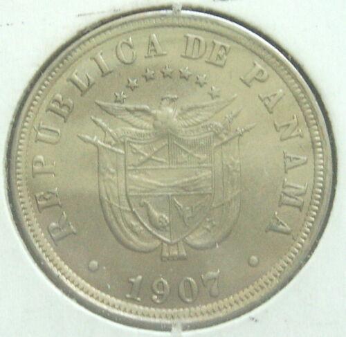PANAMA 1907 2 1/2 CENTESIMOS, KM7.1 TYPE, VERY NICE COIN