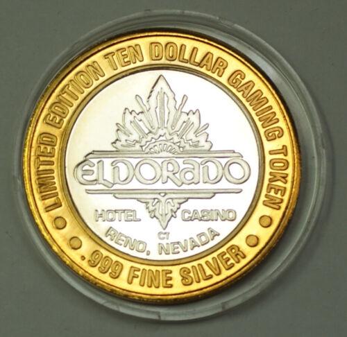 El Dorado Casino Proof Silver $10 Gaming Token Hotel Reno, Nevada