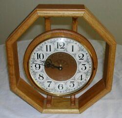 Octagonal Oak-Framed Clock