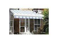 Garden awning by Luxaflexfor shade and beauty