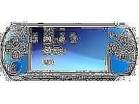 SONY PSP 3000 VIBRANT BLUE 4 GAMES 2GB MEMORY CARD