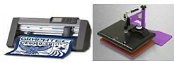 "Graphtec 15"" vinyl cutter plotter + Geo knight 9x12 heat press"