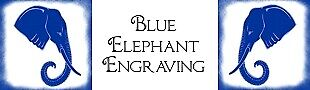 Blue Elephant Engraving