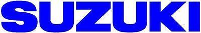 SUZUKI  2x 185mm Motorcycle Bike Quad Tank Fairing Decals / Sticker ( BLUE )