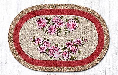 Rose Oval Teppich (BRAIDED RUG--20