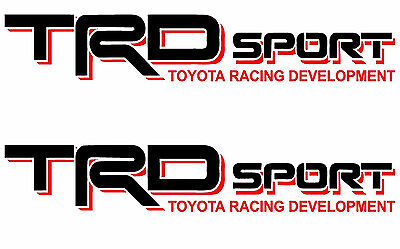 TOYOTA TRD SPORT Decals Vinyl Stickers 1 PAIR truck bed Tacoma Tundra 4 Runner](Sports Stickers)