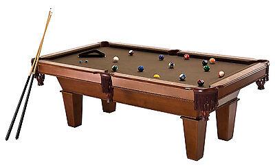 New Fat Cat 7 Foot Frisco II Billiard Pool Table Brown Wool Cloth Balls - Fat Cat Pool Table