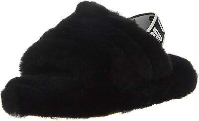 UGG Kids' T Fluff Yeah Slide Slipper, Black, Size gA4v