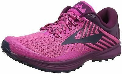 Brooks Womens Mazama 2 Trail Running Shoes, Pink/Plum/Navy