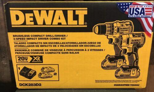 DEWALT DCK283D2 MAX XR Lithium Ion Brushless Compact Drill/D