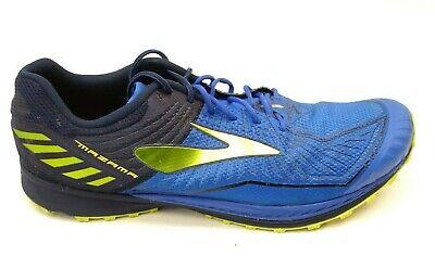 Brooks Mens Mazama Blue Athletic Running Cross Training Mesh Low Shoes Size 13