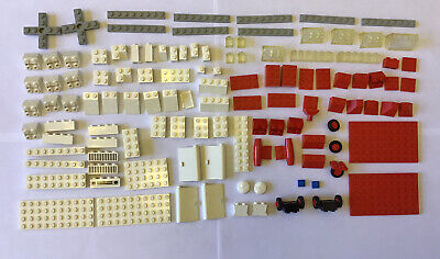 Lego 386 770 Vintage Rescue Set Helicopter And Hospital Ambulance Parts Lot