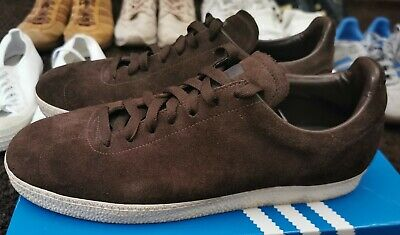 Adidas originals one piece OG gazelle OP brown suede UK 10 DEADSTOCK RARE