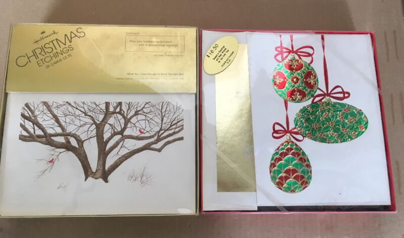 Brand New Vintage Christmas Holiday Greeting Cards 45 Total Hallmark Regency