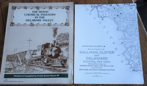 THE WOOD CHEMICAL INDUSTRY IN THE DELAWARE VALLEY O&W Railway RR History + Map