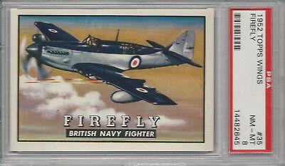 Firefly 1952 Topps Wings Graded Card PSA 8 NM-MT - Firefly Wings