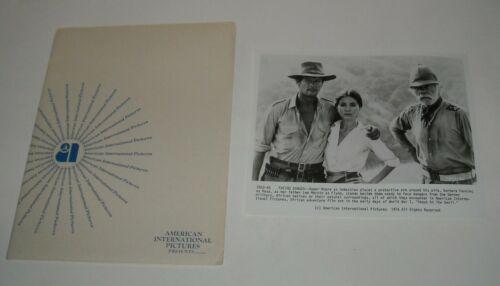 1976 SHOUT at the DEVIL MOVIE PRESS KIT 5 PHOTOS BARBARA PARKINS ROGER MOORE