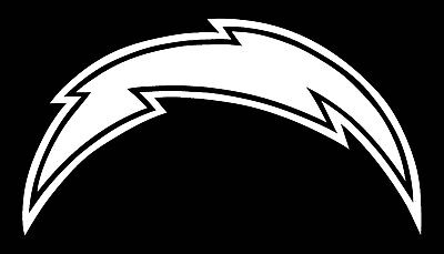San Diego Chargers Vinyl - SAN DIEGO CHARGERS LOGO CAR DECAL VINYL STICKER WHITE 3 SIZES