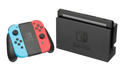 Nintendo Switch (Neon Blue and Neon Red Joy-Con) & accessories!