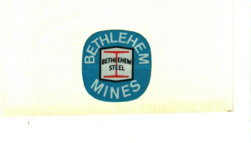NICE BETHLEHEM COAL CO. COAL MINING STICKERS # 76
