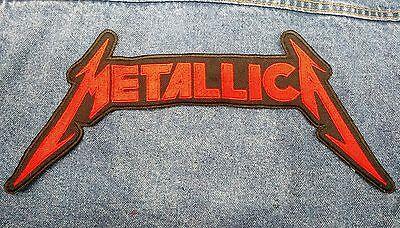 METALLICA logo BACK PATCH Embroidered SEW-ON Metallica thrash metal