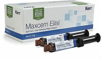 Kerr Maxcem Elite Self-etch Self-adhesive Resin Dental Cement.