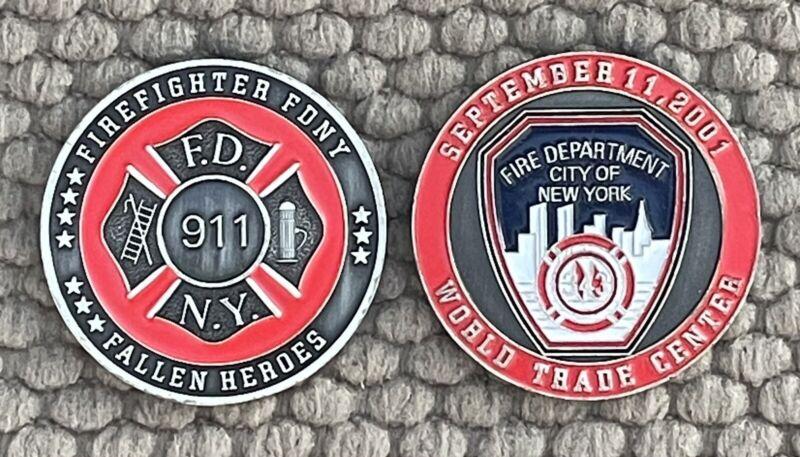 """FDNY WTC 9/11 Fallen Heroes Challenge Coin 1 1/2"""""""