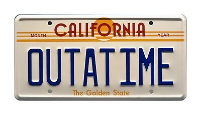 Back to the Future | Delorean | OUTATIME | STAMPED Replica Prop License - Back To Future