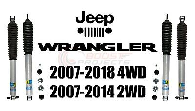 Bilstein B8 5100 Front Rear Monotube Shocks Set For 2007-2018 Jeep Wrangler (Best Shocks For Jeep Wrangler Jk)