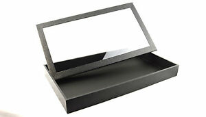 Full-Size-Black-Display-Tray-Case-with-Detachable-Magnetic-Clear-Lid-BD83-2F