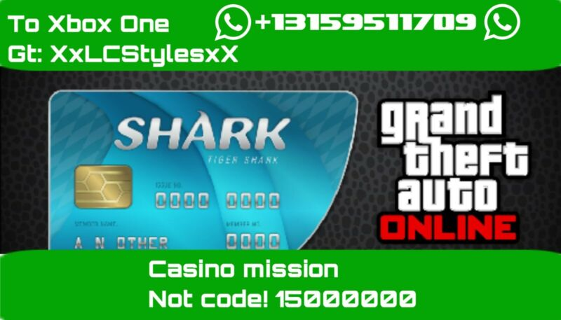 GTA 5 Online Shark Card 15000000 to Xbox One (read description)